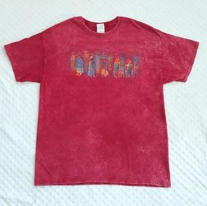 Arizona graphic tee t shirt red marbled Large L